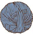 blue hank of yarn vector image