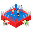 boxing ring for fight sport competition concept 3d vector image