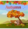 Bright autumn postcard vector image vector image