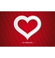 Bright Valentine day card with a Heart vector image vector image