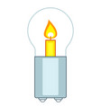 candle and lamp vector image