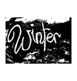 chalk texture word winter vector image vector image