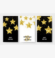 christmas banners gold stars flyers x-mas vector image vector image