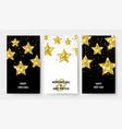 christmas banners gold stars flyers x-mas vector image