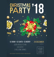 christmas party invitation poster or welcome vector image