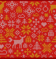 christmas seamless pattern nordic style ornament vector image vector image