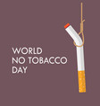 cigarette hanging with rope vector image