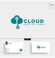 cloud connection communication creative logo vector image