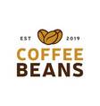 coffee beans logo vintage label product vector image vector image