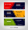colorful abstract corporate business banner vector image vector image