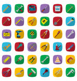 construction tools color icons set industrial vector image vector image