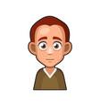 cute redhead man avatar character cartoon style vector image vector image