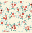 decorative seamless pattern with flowers and vector image