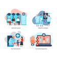 digital medicine design concept vector image vector image