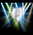 disco mirror ball background vector image vector image