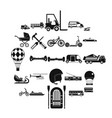 drive icons set simple style vector image vector image