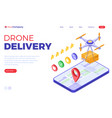 drone delivery online order package vector image