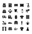 dry cleaning laundry solid icons vector image