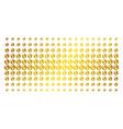 earth golden halftone pattern vector image