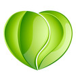 environmental charity love leaf heart vector image
