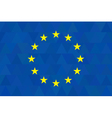 European union flag on unusual blue triangles vector image