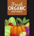 farm market vegetables harvest veggies vector image