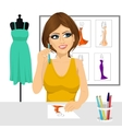 fashion designer thinking concept vector image vector image