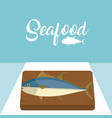fish delicious seafood vector image vector image