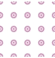 Flower seamless pattern pink color vector image vector image