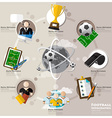 Football Tournament And Sport Flat Icon vector image vector image