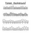 forest landscape in panorama view graphic design vector image vector image