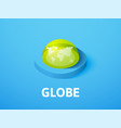 globe isometric icon isolated on color background vector image vector image