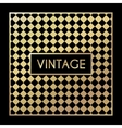 Golden vintage pattern on black background vector image vector image