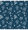 hand drawn doodles cartoon set of Space vector image