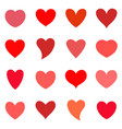 hearts icon set valentine symbol vector image
