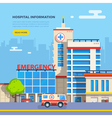 Hospital Flat vector image vector image