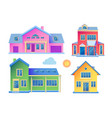 house facade building front view cottage concept vector image vector image