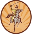 Hussar lighthorseman cavalry charging vector image