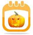 icon calendar Halloween vector image vector image
