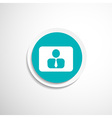 icon man inside social people technology vector image