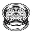 isolated monochrome of car wheel rim vector image vector image