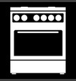 kitchen stove it is the white color icon vector image vector image