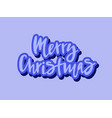 merry christmas for invitation postcard poster vector image