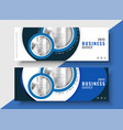 modern blue business banner for your brand vector image