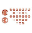monogram circle letters vector image