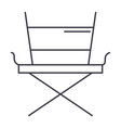 movie director chair line icon sign vector image vector image