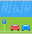 Parking banners in flat style vector image vector image