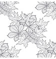 pattern seamless with autumn leaves vector image vector image