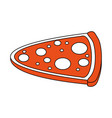pizza flat vector image vector image