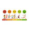 race emotions competition success measurement vector image